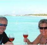 Vinden Grace & Eve Grace-Kelly - lunch on Aruba - Marketers' Cruise - Jan 2011
