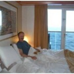 Vinden Grace-breakfast in bed on the Marketers' cruise in the Caribbean